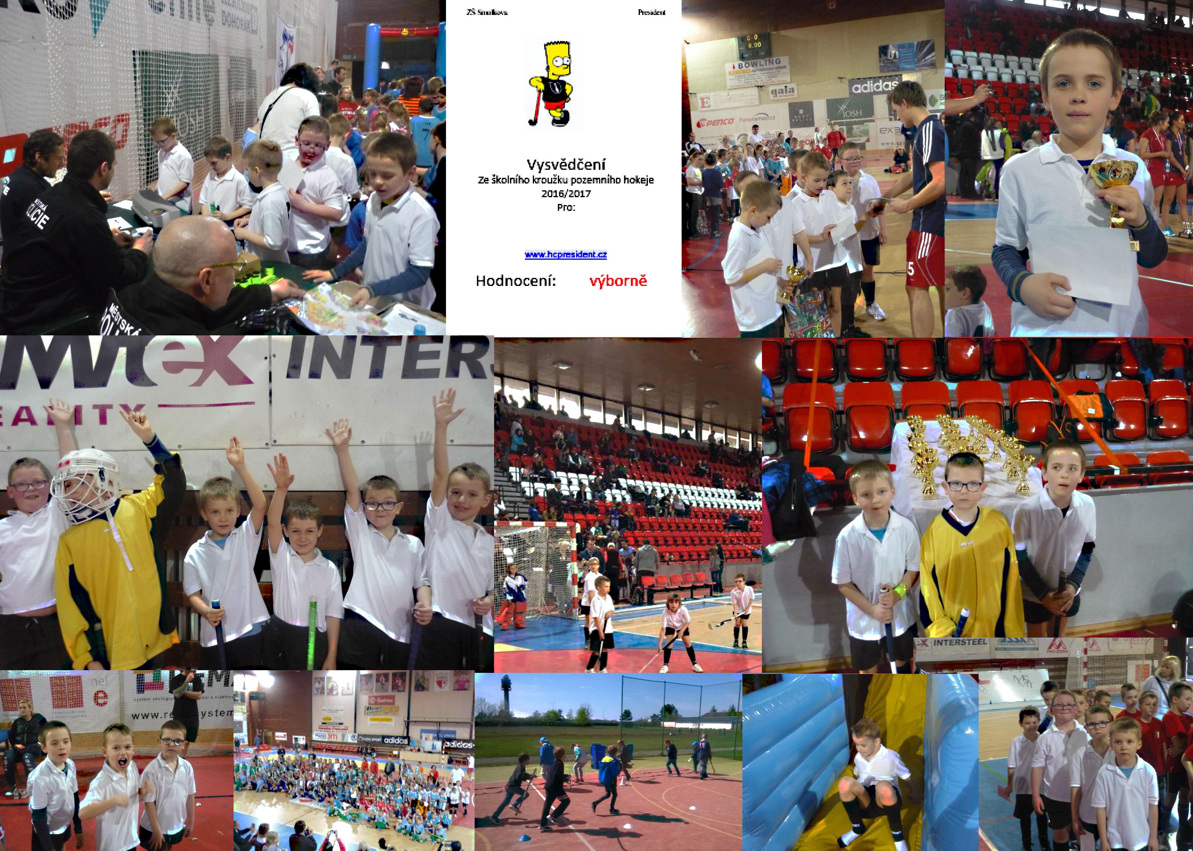 Vysvědčení pro děti z kroužku ZŠ Smolkova